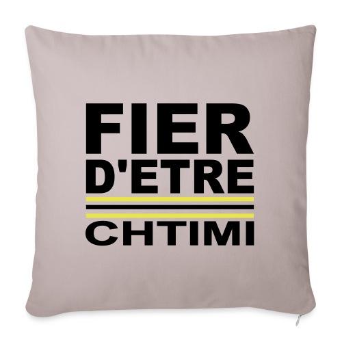 Fier D ETRE Chtimi Noir - Housse de coussin décorative 45x 45cm