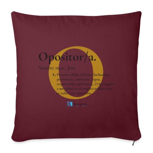 Definición de Opositor/a - Funda de cojín, 45 x 45 cm