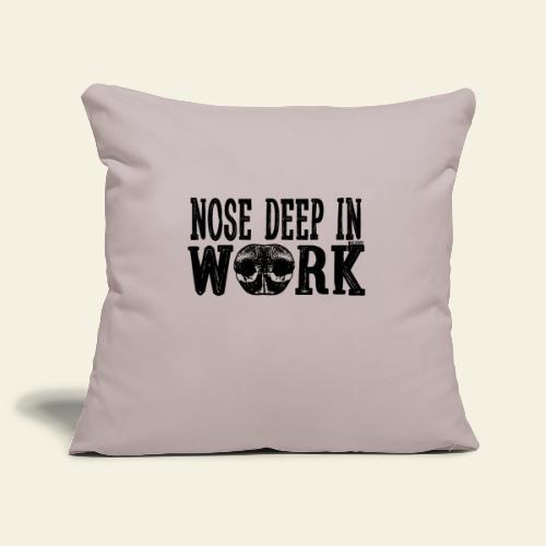 Nose Deep in Work 2 - Sohvatyynyn päällinen 45 x 45 cm