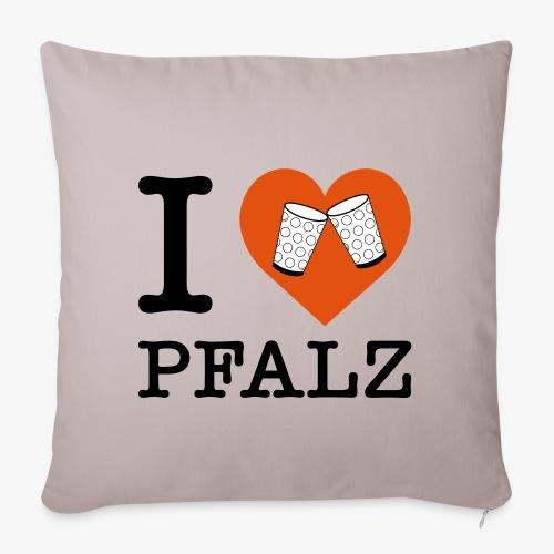 I love Pfalz – Dubbeglas - Sofakissenbezug 44 x 44 cm