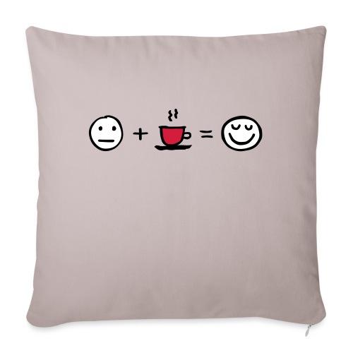 Coffee makes me happy - Sofakissenbezug 44 x 44 cm