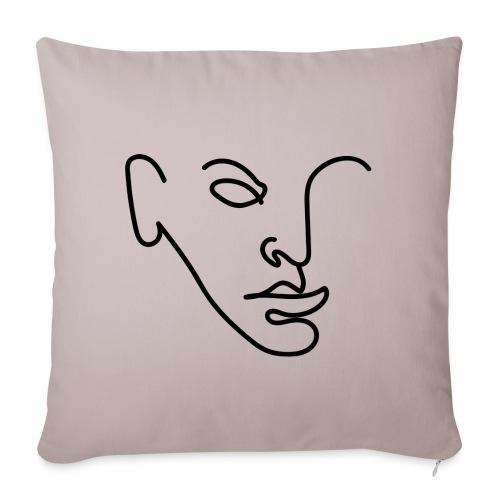 portrait1 png - Housse de coussin décorative 45x 45cm