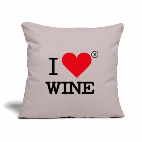 I heart wine - Sofa pillowcase 17,3'' x 17,3'' (45 x 45 cm)