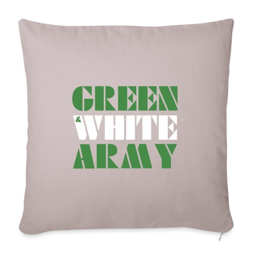 GREEN & WHITE ARMY - Sofa pillowcase 17,3'' x 17,3'' (45 x 45 cm)