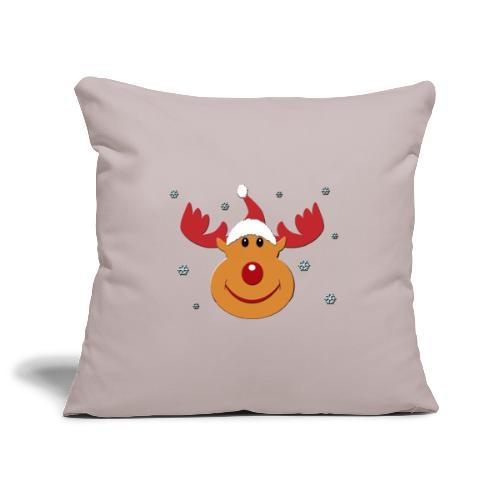 Rudolf for christmas - Sierkussenhoes, 45 x 45 cm