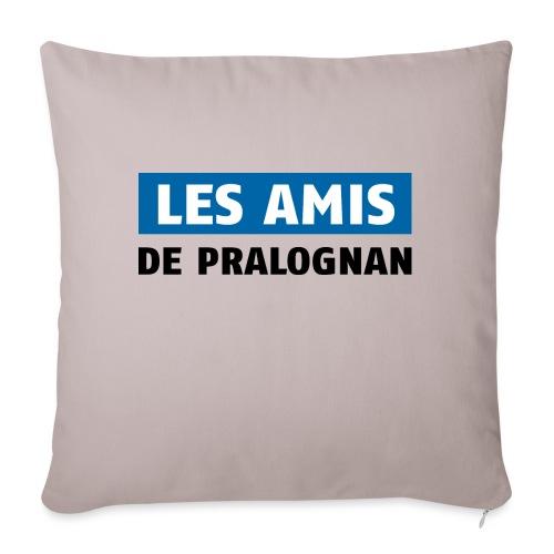 les amis de pralognan texte - Housse de coussin décorative 45x 45cm