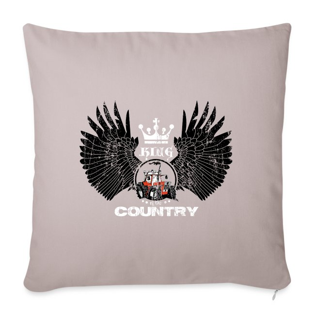WINGS King of the country zwart wit op rood