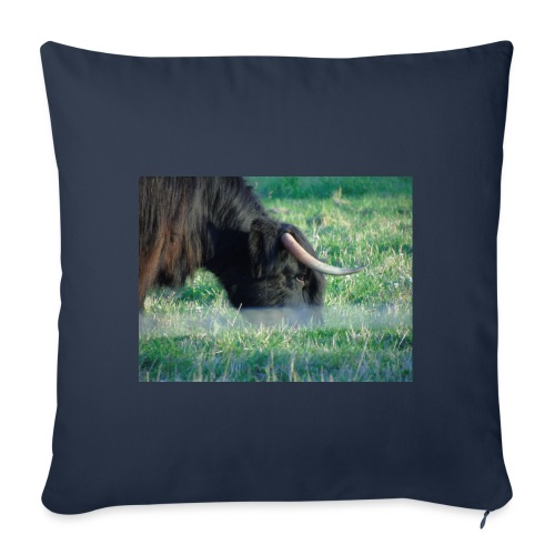 A highland cow - Sofa pillowcase 17,3'' x 17,3'' (45 x 45 cm)