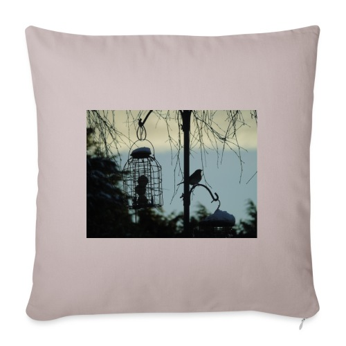 A winter bird - Sofa pillowcase 17,3'' x 17,3'' (45 x 45 cm)