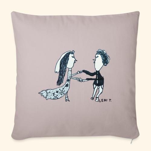 LeniT Just Married - Sohvatyynyn päällinen 45 x 45 cm