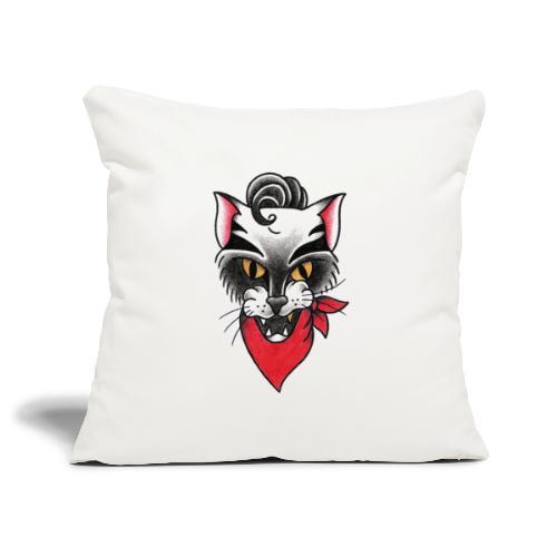 Rockabillycat - Copricuscino per divano, 45 x 45 cm
