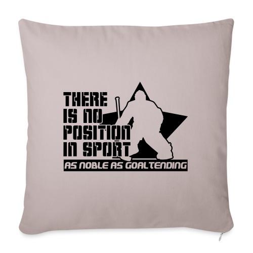 Ice Hockey Goalie Quote - Sofa pillowcase 17,3'' x 17,3'' (45 x 45 cm)