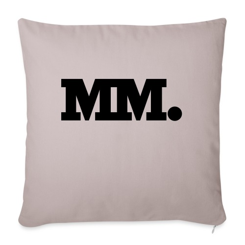 mm logo - Sofakissenbezug 44 x 44 cm