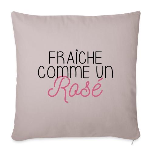 FRAICHE COMME UN ROSÉ - Housse de coussin décorative 45x 45cm