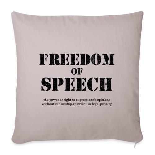 Freedom of speech - Poszewka na poduszkę 45 x 45 cm