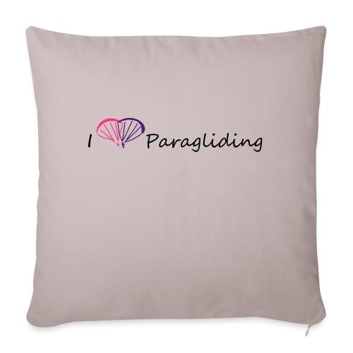 I Love Paragliding V1 - Sofa pillowcase 17,3'' x 17,3'' (45 x 45 cm)