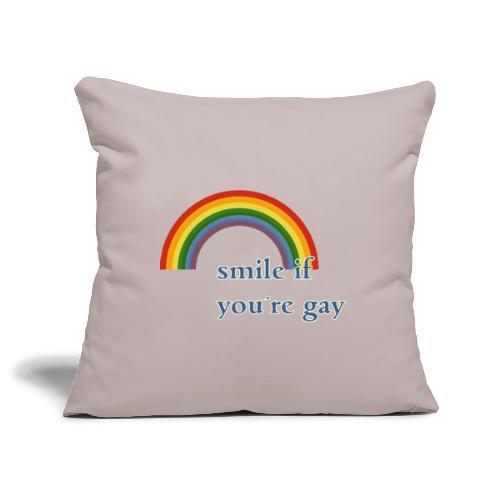 Lächle wenn du schwul bist   Vintage   LGBT  Pride - Sofakissenbezug 44 x 44 cm