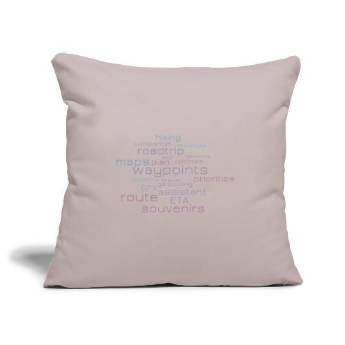 Cachetur.no Word Cloud - Sofa pillowcase 17,3'' x 17,3'' (45 x 45 cm)