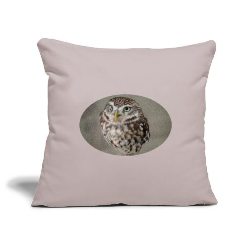 magical owl transparent green background - Sofa pillowcase 17,3'' x 17,3'' (45 x 45 cm)