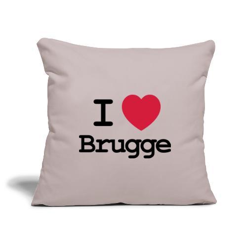 I love Brugge - Sierkussenhoes, 45 x 45 cm