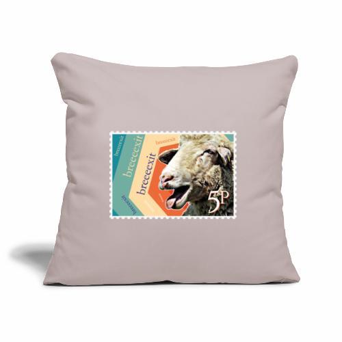 Brexit goat stamp - Sofa pillowcase 17,3'' x 17,3'' (45 x 45 cm)