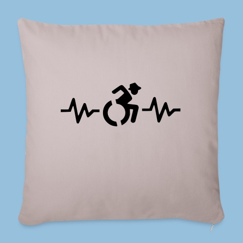 Wheelchairheartbeat1 - Sierkussenhoes, 45 x 45 cm