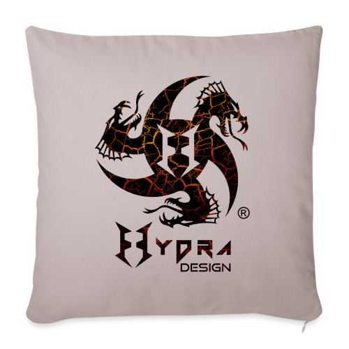 Hydra Design - logo Cracked lava - Copricuscino per divano, 45 x 45 cm