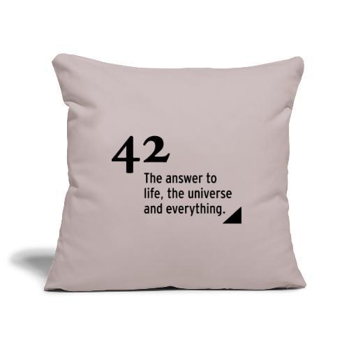 42 - the answer - Sofakissenbezug 44 x 44 cm
