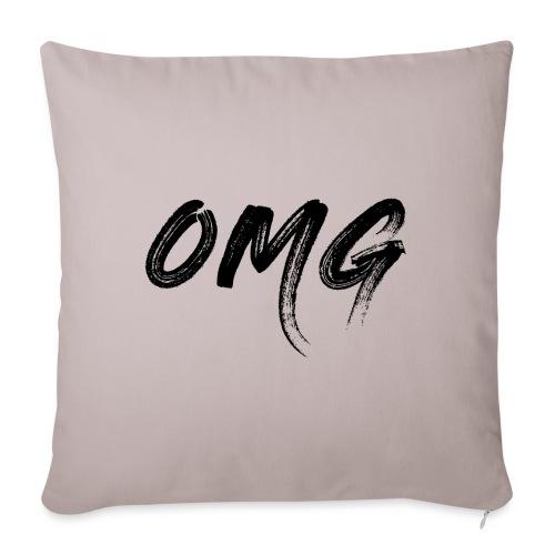 OMG, musta - Sohvatyynyn päällinen 45 x 45 cm