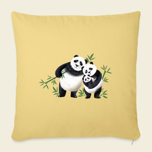 Pandafamilie Baby - Sofakissenbezug 44 x 44 cm