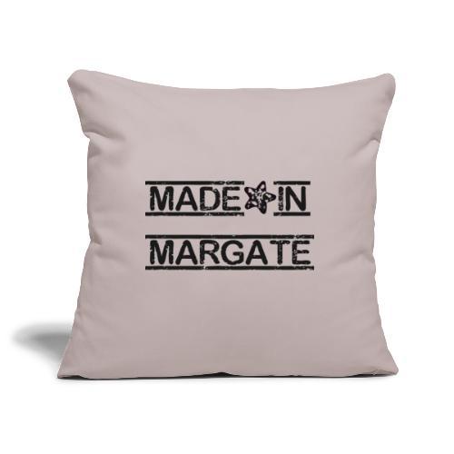 Made in Margate - Black - Sofa pillowcase 17,3'' x 17,3'' (45 x 45 cm)