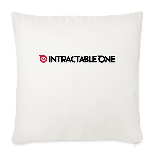 Intractable one logo - Sierkussenhoes, 45 x 45 cm