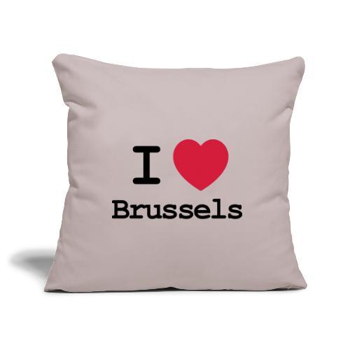I love Brussels - Sierkussenhoes, 45 x 45 cm