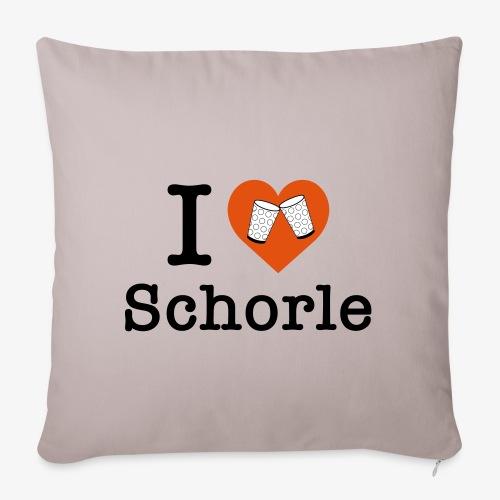 I love Schorle – Dubbeglas - Sofakissenbezug 44 x 44 cm