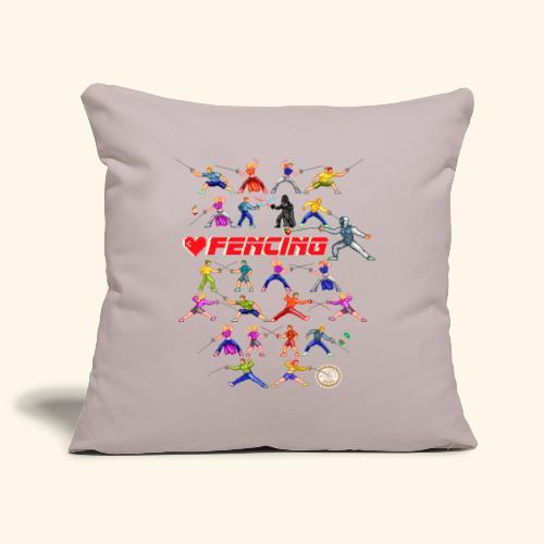 LOVE FENCING - Copricuscino per divano, 45 x 45 cm