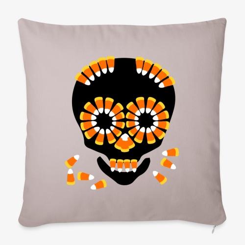 Skull Candy Corn HallOWeen by patjila - Sofa pillowcase 17,3'' x 17,3'' (45 x 45 cm)