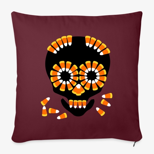 Skull Candy Corn HallOWeen by patjila - Sofa pillowcase 17,3'' x 17,3'' (45 x 45 cm)