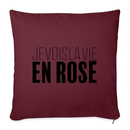 La vie en rosé - Housse de coussin décorative 45x 45cm
