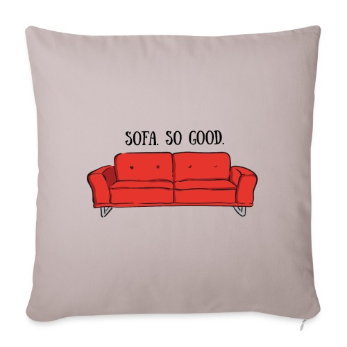 sofa so good red – lustige Geschenkidee - Sofakissenbezug 44 x 44 cm