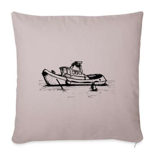 Uk Thames Boat - Sofa pillowcase 17,3'' x 17,3'' (45 x 45 cm)
