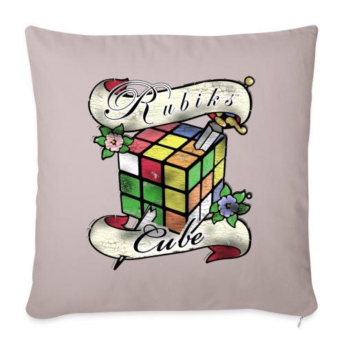 Rubik's Cube Tatoo - Soffkuddsöverdrag, 45 x 45 cm