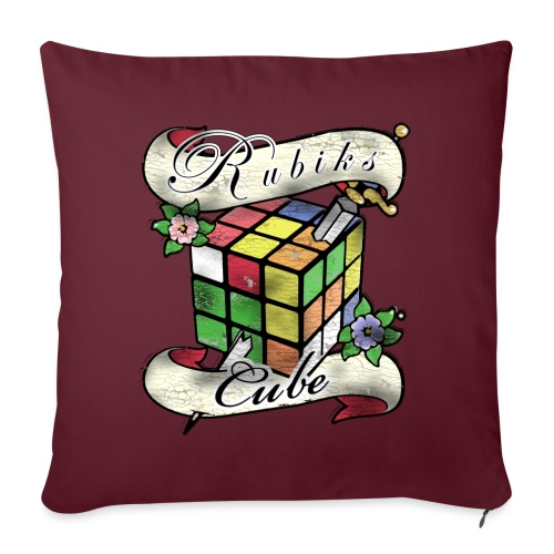 Rubik's Cube Tatoo - Sofa pillowcase 17,3'' x 17,3'' (45 x 45 cm)