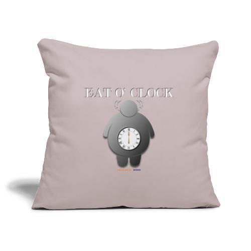 Eat o clock tshirt - Housse de coussin décorative 45x 45cm