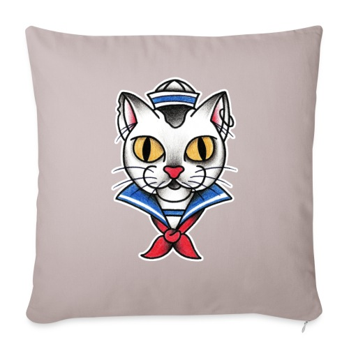 Sailorcat - Copricuscino per divano, 45 x 45 cm