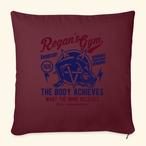 Horror Film T Shirt Design Exorcise in Regan's Gym - Sofakissenbezug 44 x 44 cm