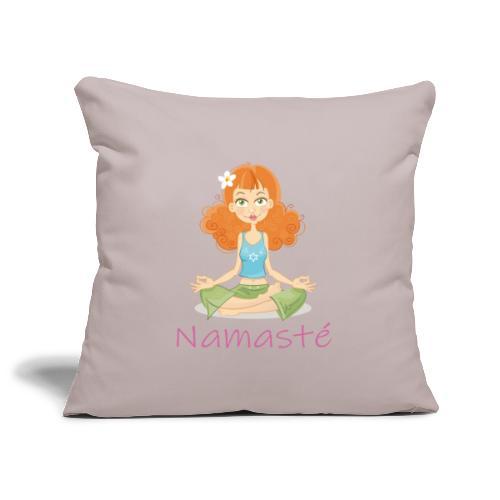 Namaste Cheerful Yoga Girl - Sofakissenbezug 44 x 44 cm