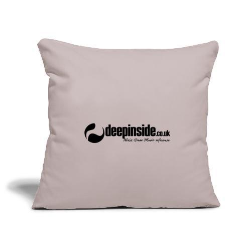 DEEPINSIDE World Reference logo black - Sofa pillowcase 17,3'' x 17,3'' (45 x 45 cm)