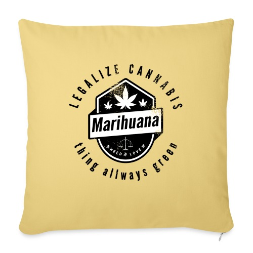 Legalize Cannabis Smoke Weed VINTAGE - Sofa pillowcase 17,3'' x 17,3'' (45 x 45 cm)