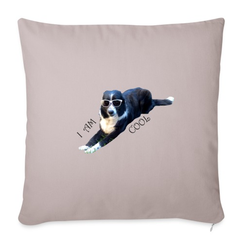 border collie cool - Housse de coussin décorative 45 x 45 cm