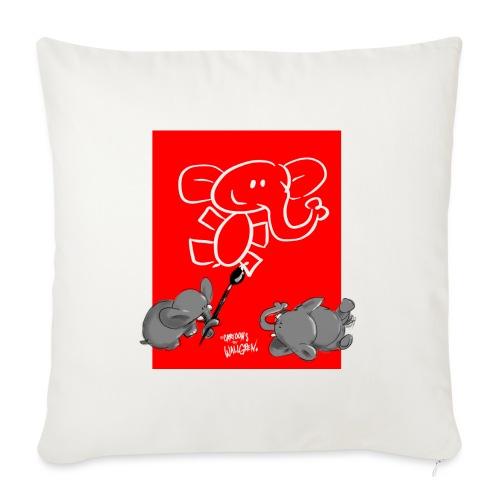 When elephants paints elephants (accesories) - Soffkuddsöverdrag, 45 x 45 cm